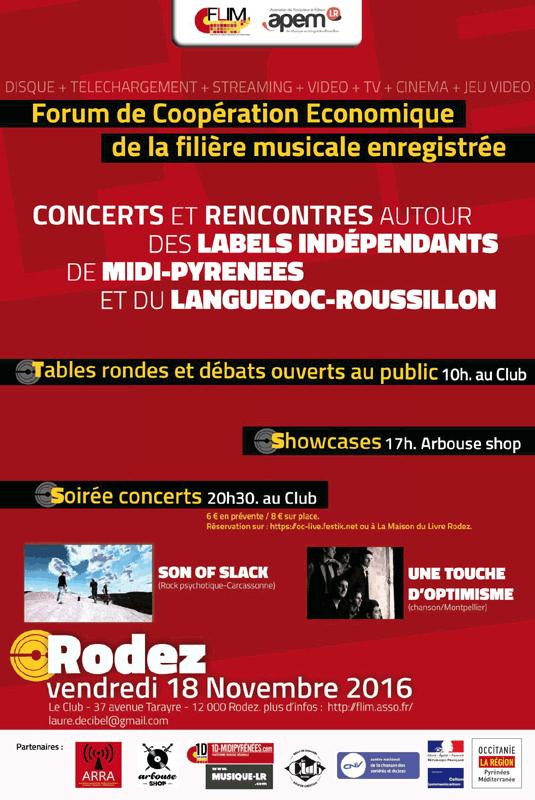 Concerts et Rencontres autour des des Labels Indépendants de Midi-Pyrénées et du Languedoc-Roussillon